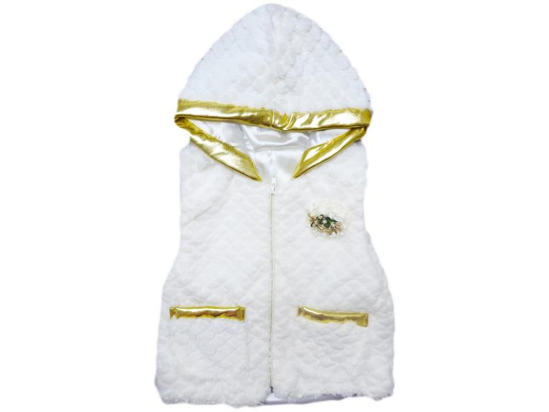 803 Wholesale quality and cheap vest hooded for girl babies 1-2-3-4 age