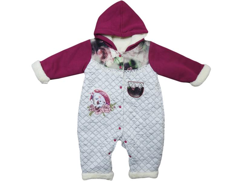 9113 Wholesale quality and cheap wersoflu hooded overalls for girl babies 3-6-9-12 month