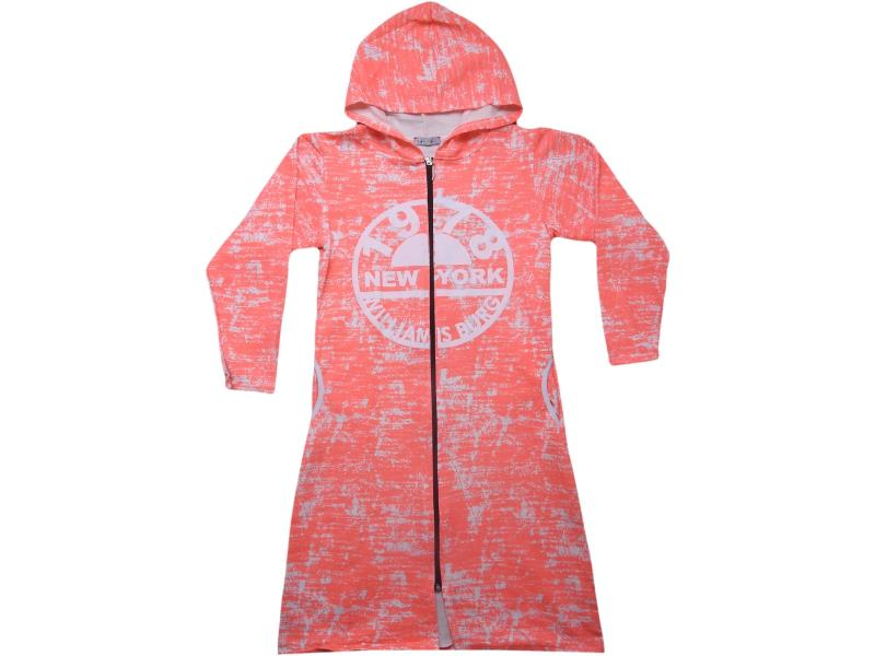 6980 Zippered knitwear for girl child 10-12-14-16 age