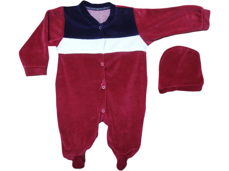 8930 Velvet detailed overalls for babaies 3-6-9-12 month