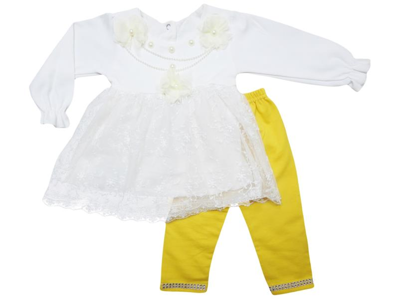 wholesale quality and cheap two piece set for girl babies 9-12-18 month