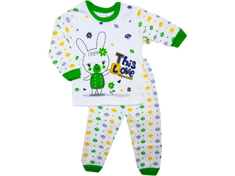 1090 wholesale quality and cheap this love printed pyjamas for babies  1-2-3 age