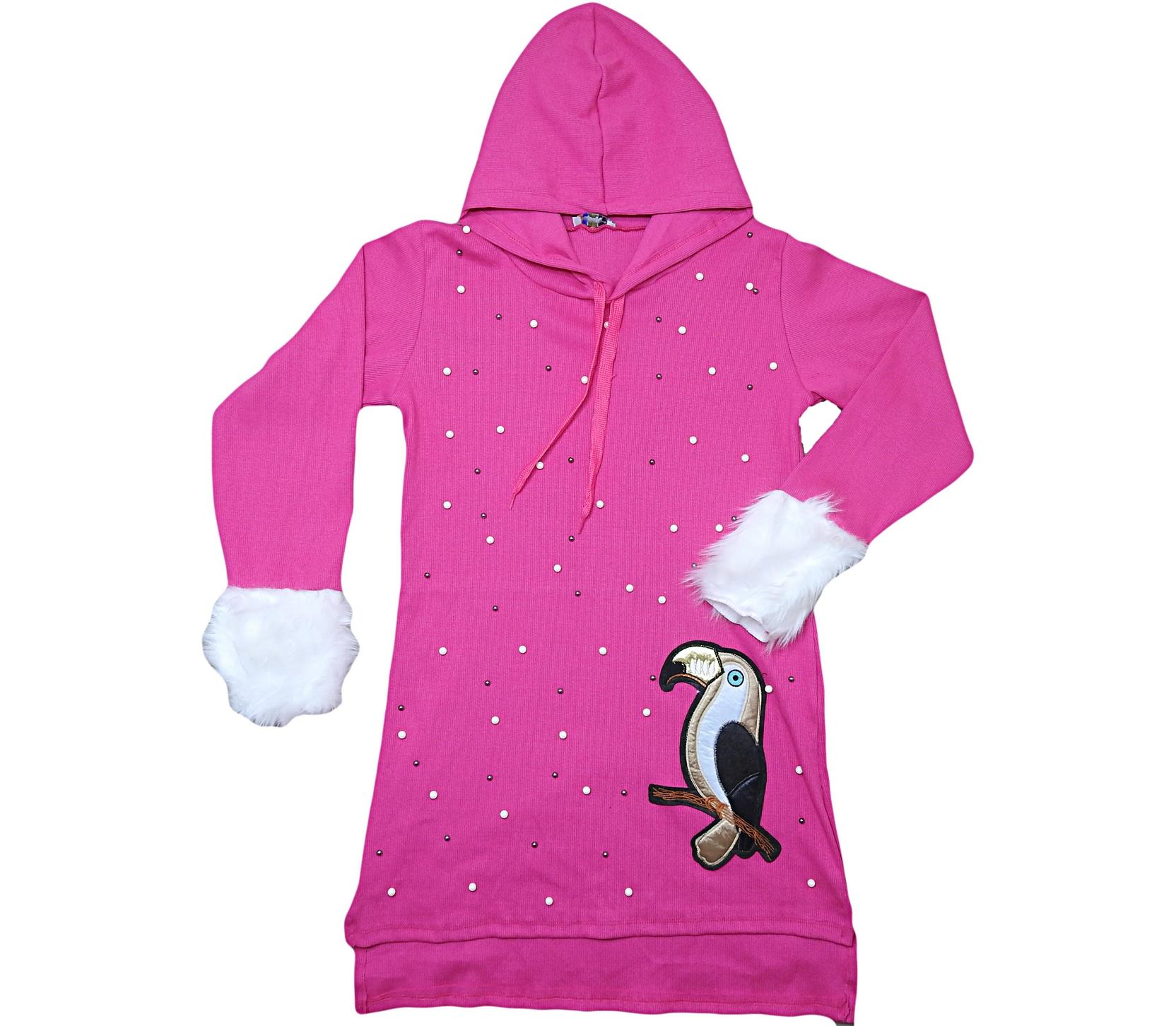 3461 Wholesale quality and cheap hooded cardigan for girl children 10-12-14-16 age