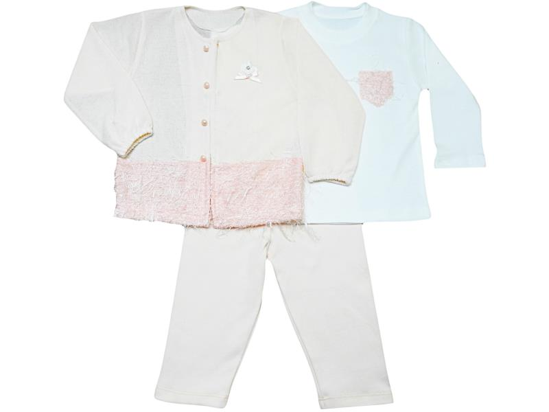 328 Wholesale quality and cheap triple set for girl babies  9-12-24 Month