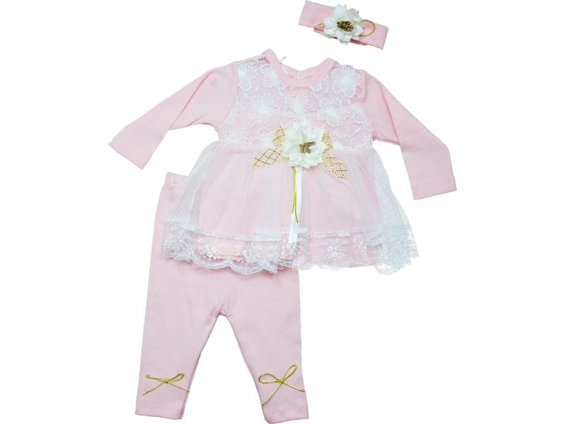 61019 wholesale tights suit with baby cap on  6-9 month