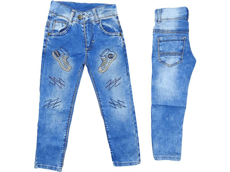boys jeans child embroidered trousers 3-4-5-6-7 age