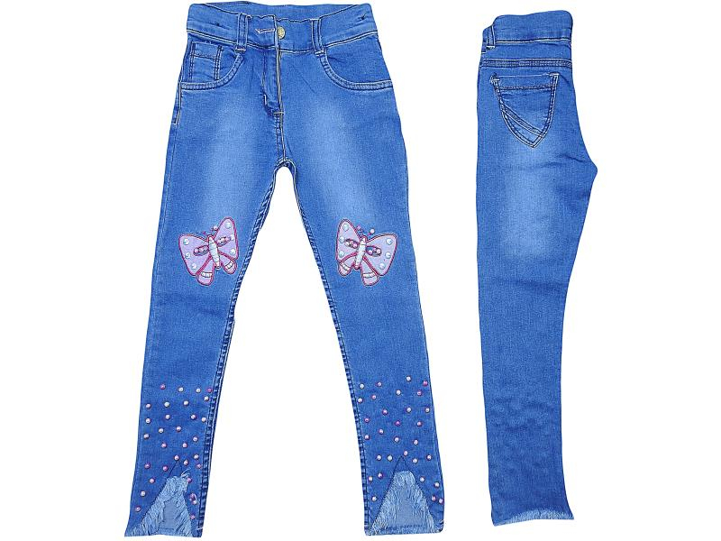 wholesale kids jeans pants for girls 8-9-10-11-12 age