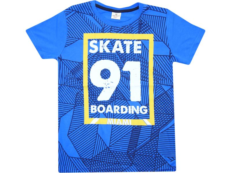 9105 wholesale kids print skate t-shirts 91 for boys 5-6-7-8-9-10 age