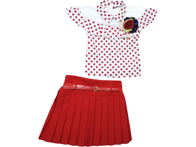 1915 Wholesale quality and cheap two piece set for girl children 6-8-10-12 age