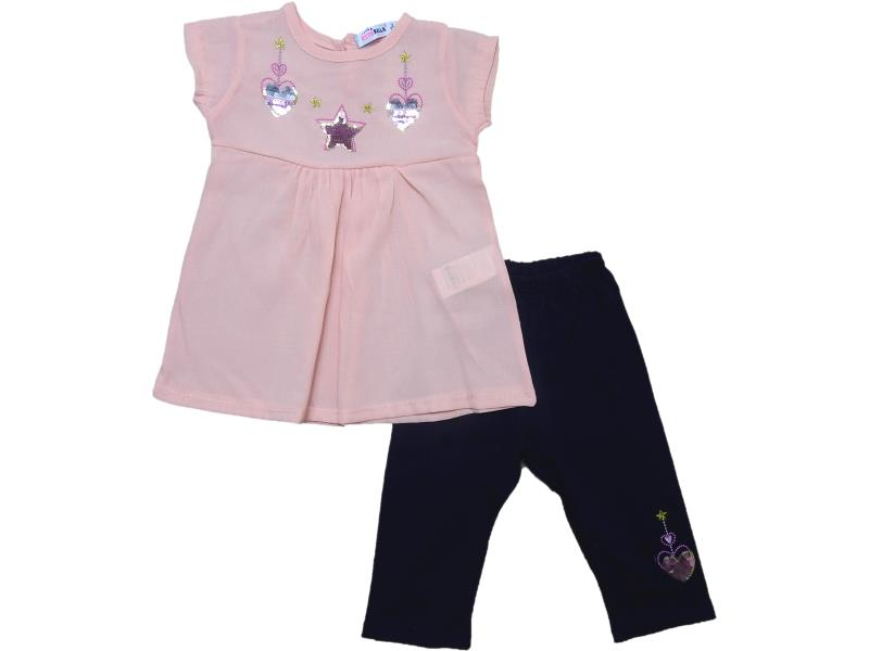 2896 wholesale quality and cheap two-piece (dress + pants) for girl children 3-4-5-6 age