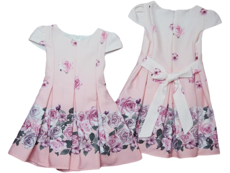 9050 Wholesale quality and cheap dress for girl babies 1-2-3-4 age
