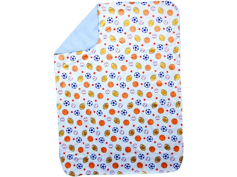 wholesale high quality baby blanket with print two-layer
