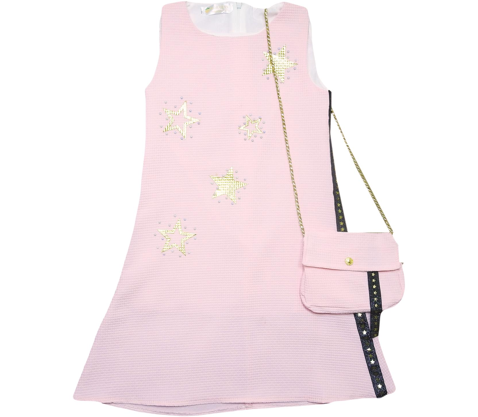 641 wholesale children's summer sundresses, dresses with handbag,for girls 6-7-8-9 age