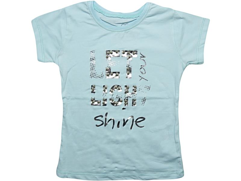 07090 Wholesale quality and cheap t-shirt for girl babies 1-2-3-4 age