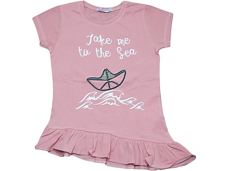 07251 Wholesale quality and cheap t-shirt for girl babies 1-2-3-4 age
