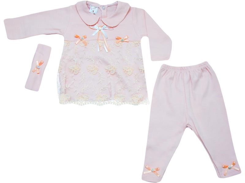 61035 Wholesale quality and cheap two piece set for girl babies 6-9 month