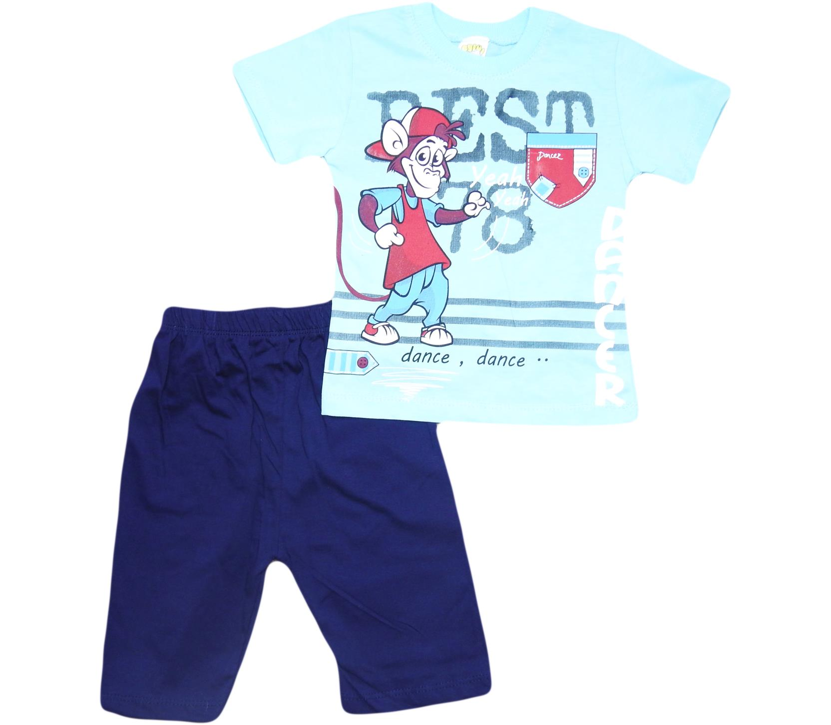 109 Wholesale quality and cheap two piece set for boy babies 2-3-4-5 age