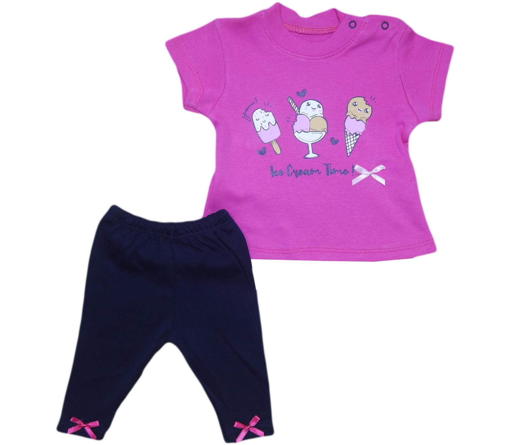 670 Wholesale quality and cheap two piece set for girl babies 6-12-18 month