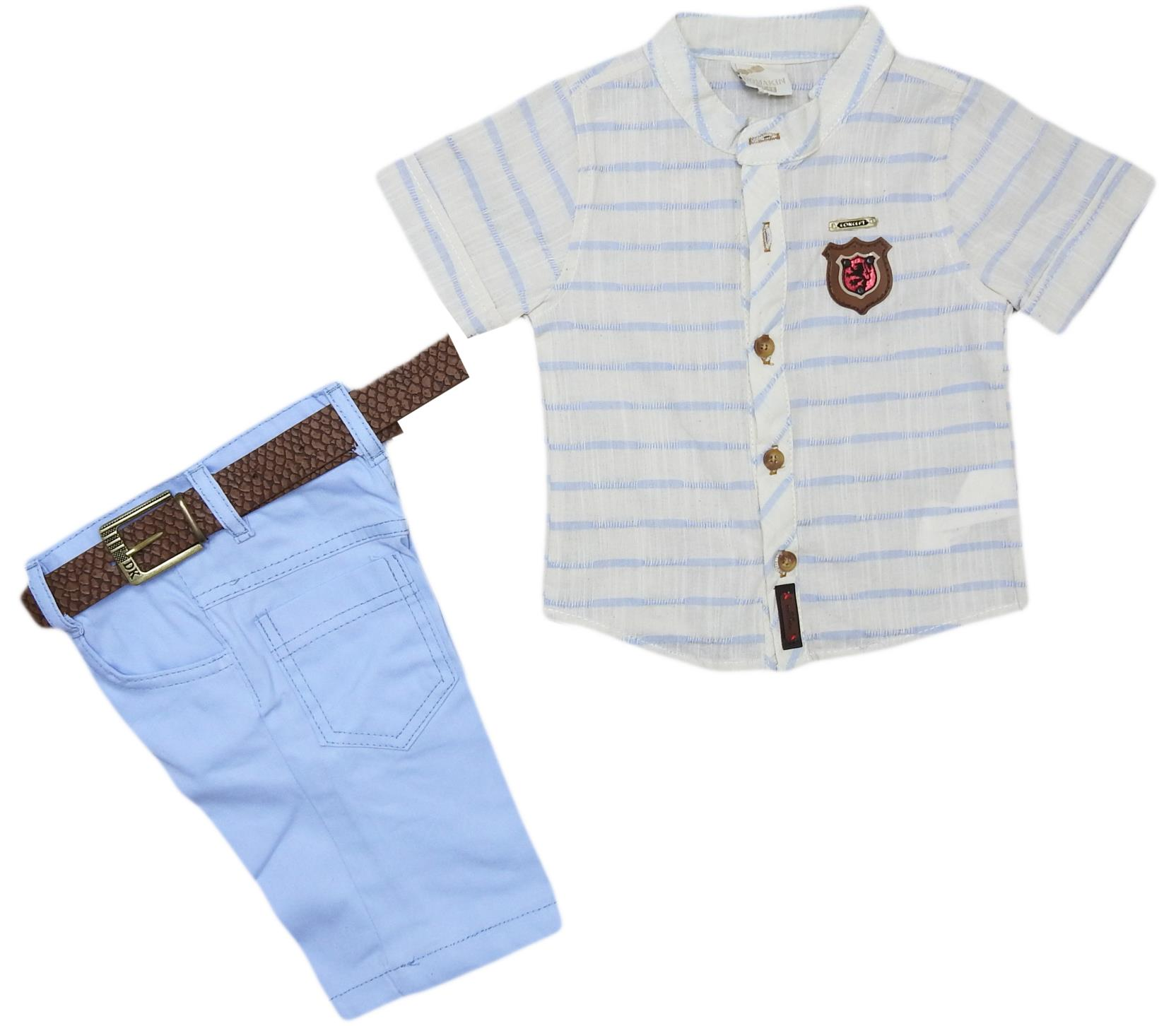 M-0215 Wholesale quality and cheap two piece set for boy babies 1-2-3-4 age