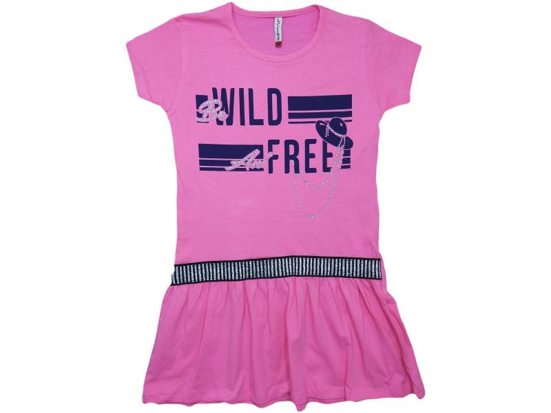 K-983 wholesale baby casual dresses with print wild free for girls for 9-10-11-12-13 age