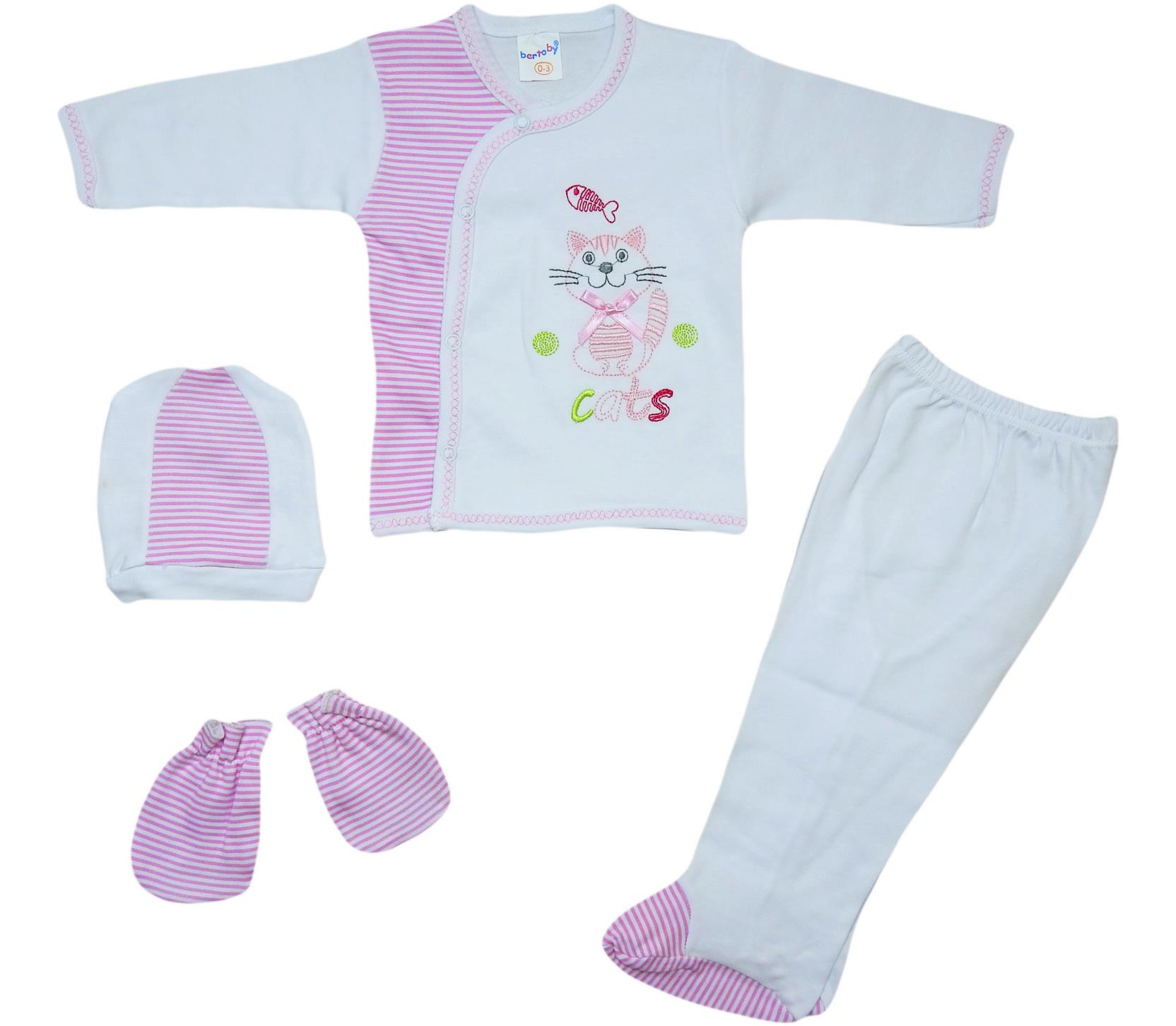 BERTO-479 wholesale baby sets of 4 subject to newborn to 0-3 months