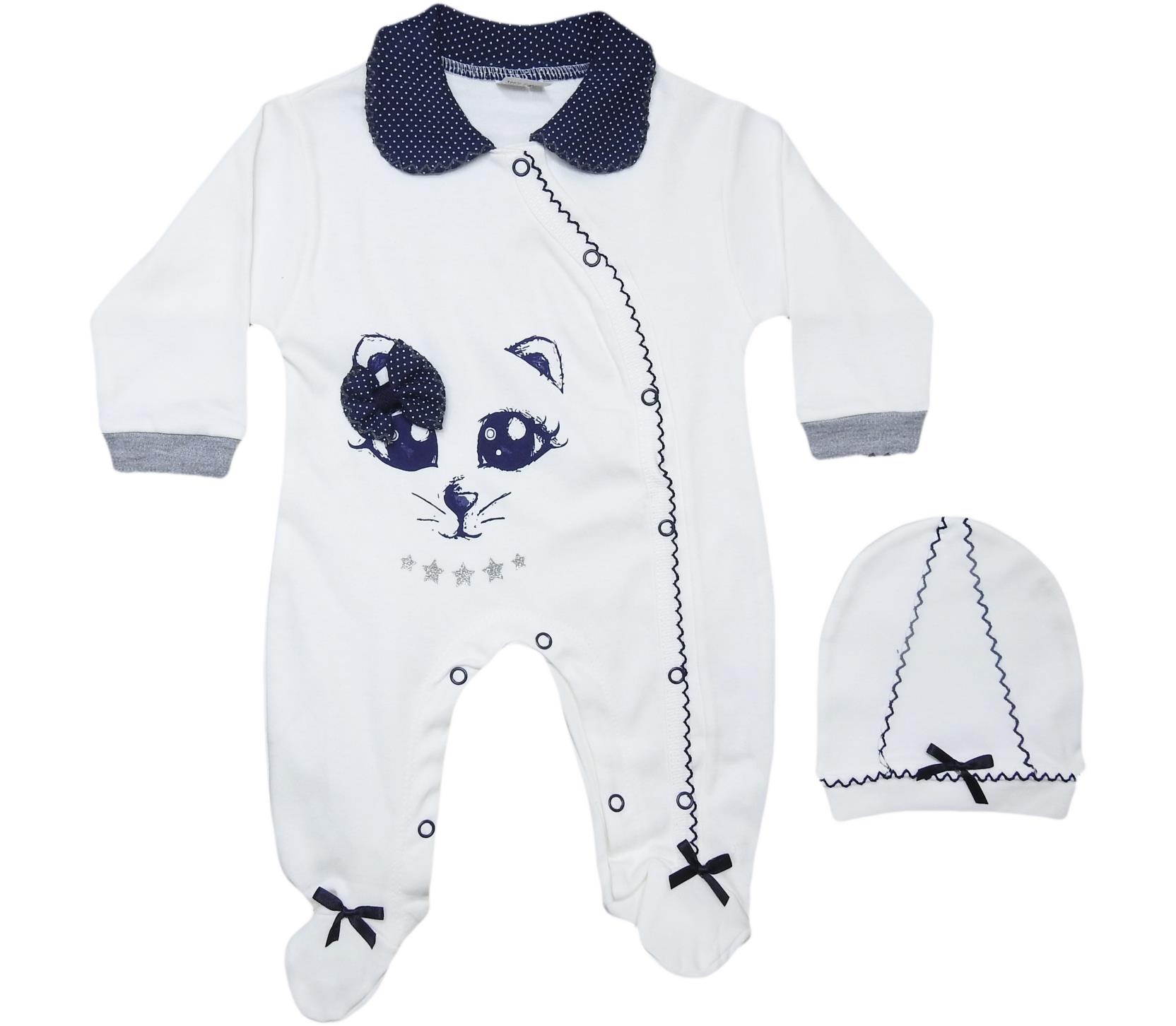 BERTO-490 Wholesale Baby Romper With Embroidery for newborns 3-9 Month