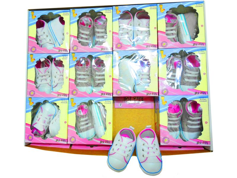 Wholesale baby booties,in a package of 12 PCs.