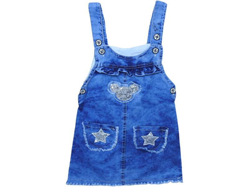 1078 wholesale children's denim sundresses for girls for 5-6-7-8 age