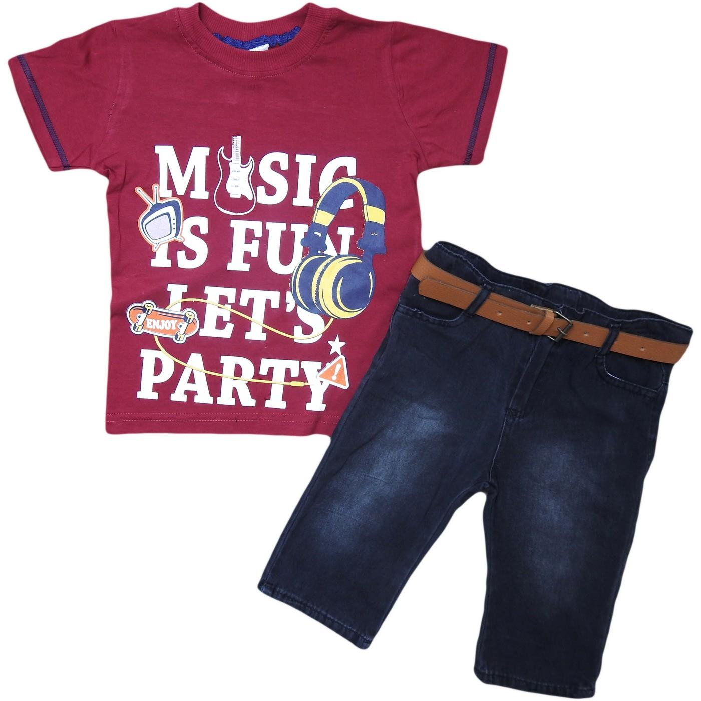 1377 wholesale children's summer suits of two,t-shirts+shorts denim for boys for 5-6-7-8 age