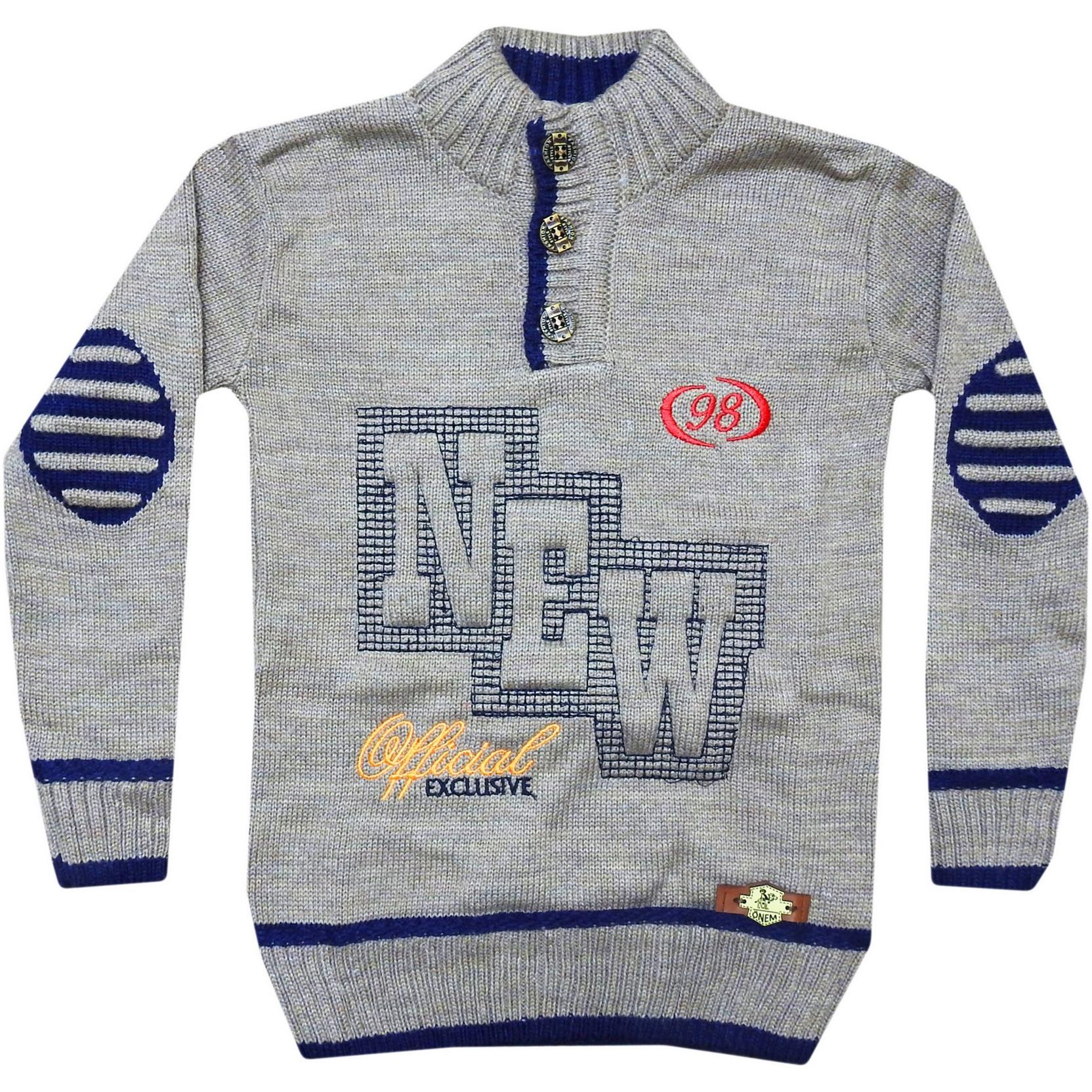 306 Wholesale Knit Sweater For Boy Kids With New Embroidered 5-7-9 Age