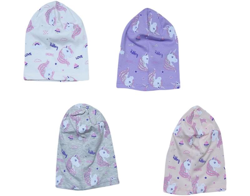 069 wholesale baby beanie with 12 printed