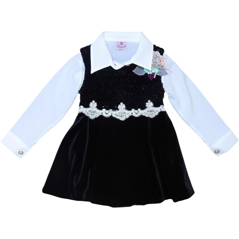 9141 wholesale jumper with shirt for 1-2-3-4 years old girls.