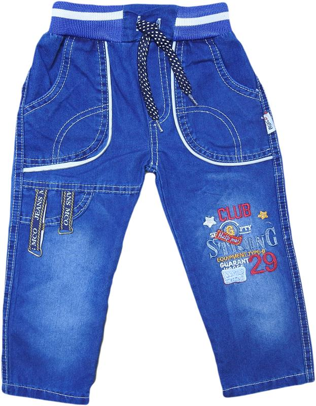 1087 wholesale denim trousers with 29 club print for 2-3-4-5 years old kids.