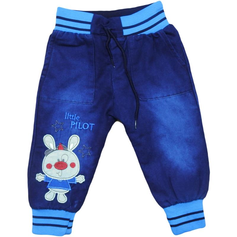 wholesale children's denim insulated pants with Terry lining, for boys 1-2-3-4-5 years