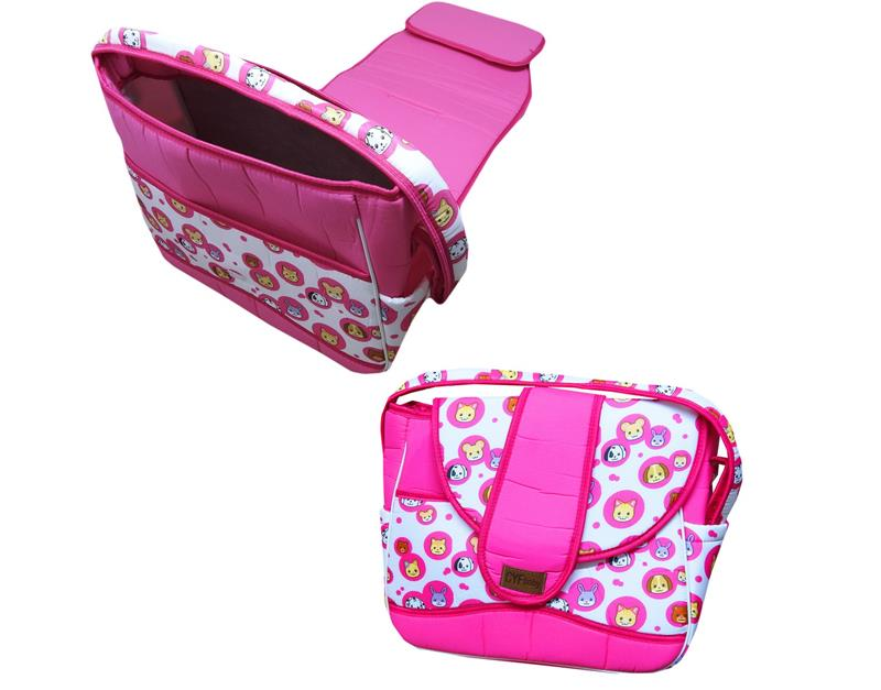 602 wholesale baby bag set with double bottom opening