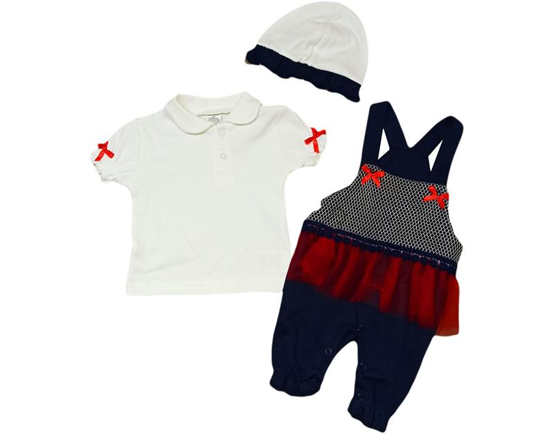 417 wholesale baby jumpsuit with net 3-6-9 months