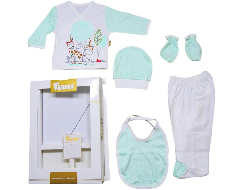 T-1086 wholesale baby baby set with 5 piece leaf box
