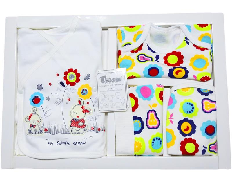 T-1065 wholesale baby bodysuit set with 8 pieces pear box