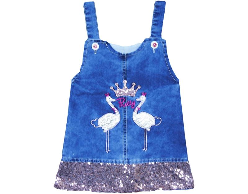 2109 wholesale girls jeans gilet swan 1-2-3-4 age