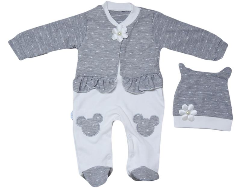 852-20 wholesale girls embroidered baby overalls 3-6-9 months