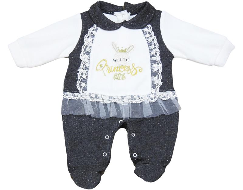 1601 wholesale baby romper long sleeve rabbit embroidered 3-6-9 months