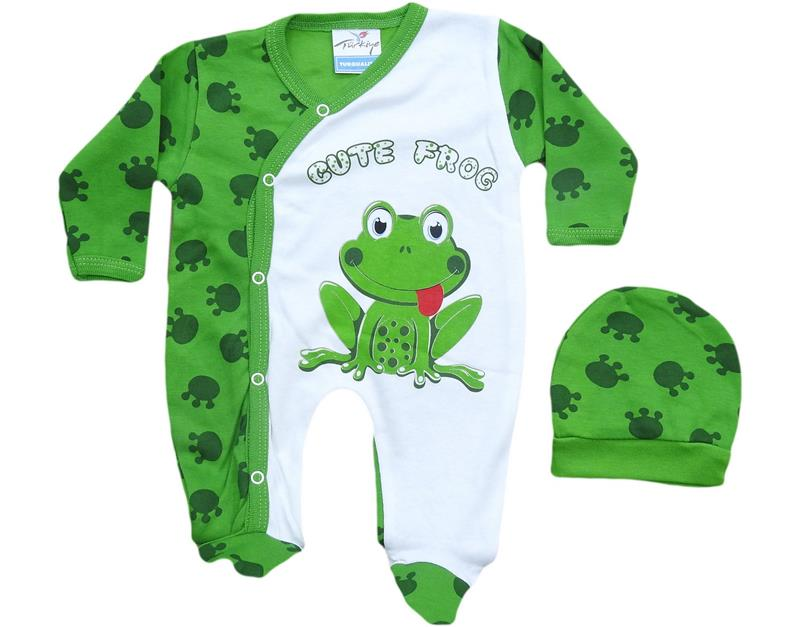 782 wholesale frog print baby rompers 6-9 months