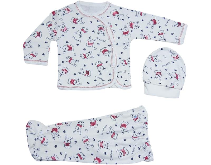 120 wholesale triple baby bodysuit set with rabbit 3-6 month