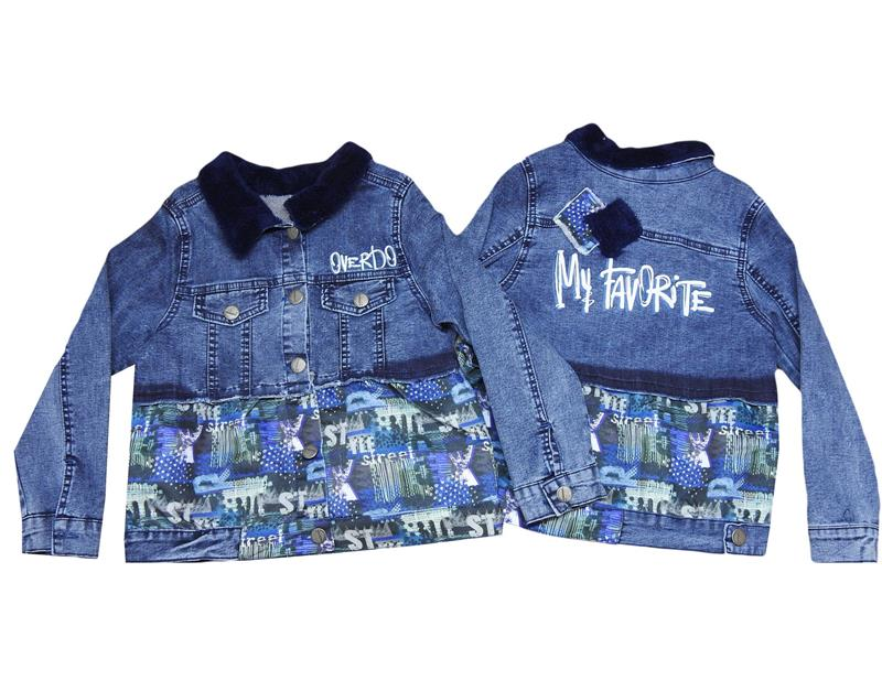 6453 wholesale jeans girl jacket for 6-7-8-9 age