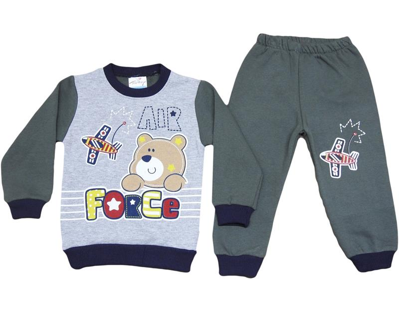 2037 wholesale baby double set with air force print 1-2-3-4 age
