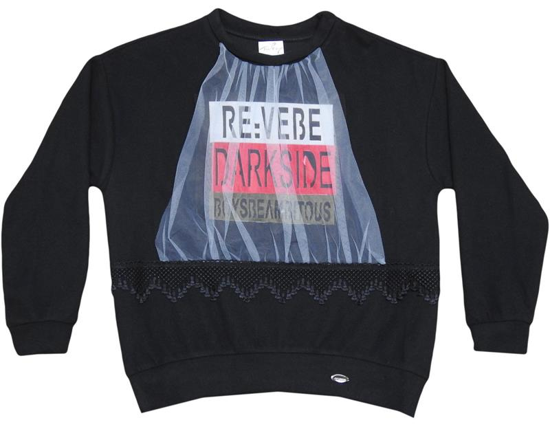 2613 wholesale 3 rope embroidered tulle girl sweat 11-12-13-14 age