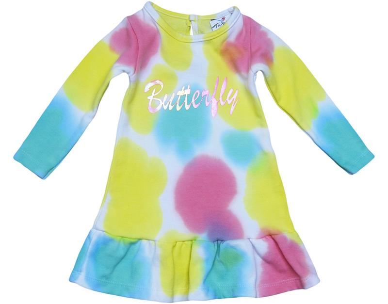 2270 wholesale tie-dye racer girl dress 2-3-4-5 age