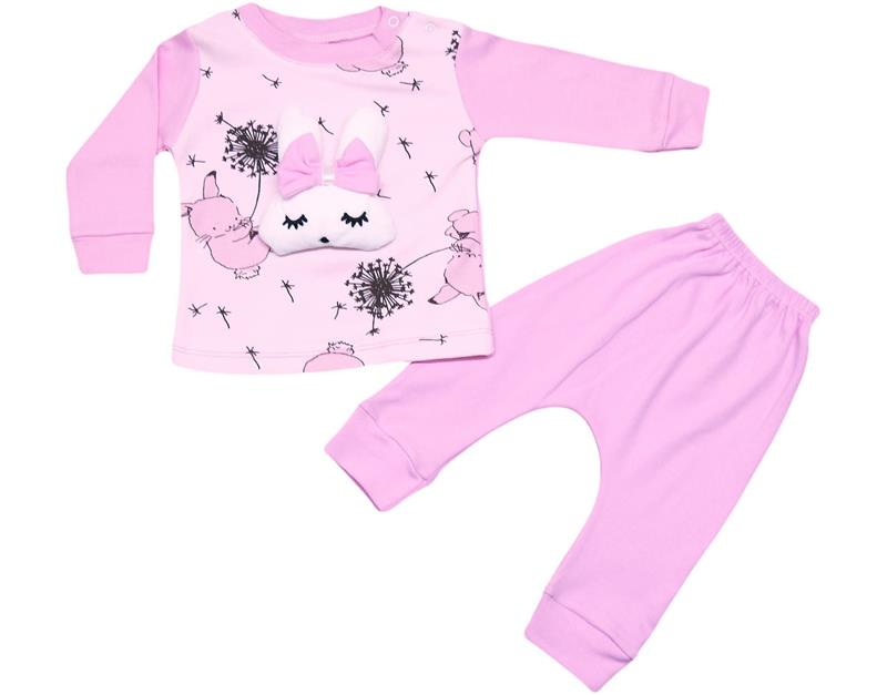 820 wholesale bunny girl baby double suit 6-12-18 month