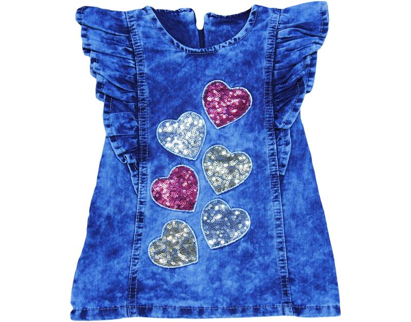 2166 wholesale heart sequin girl gilet 1-2-3-4 age