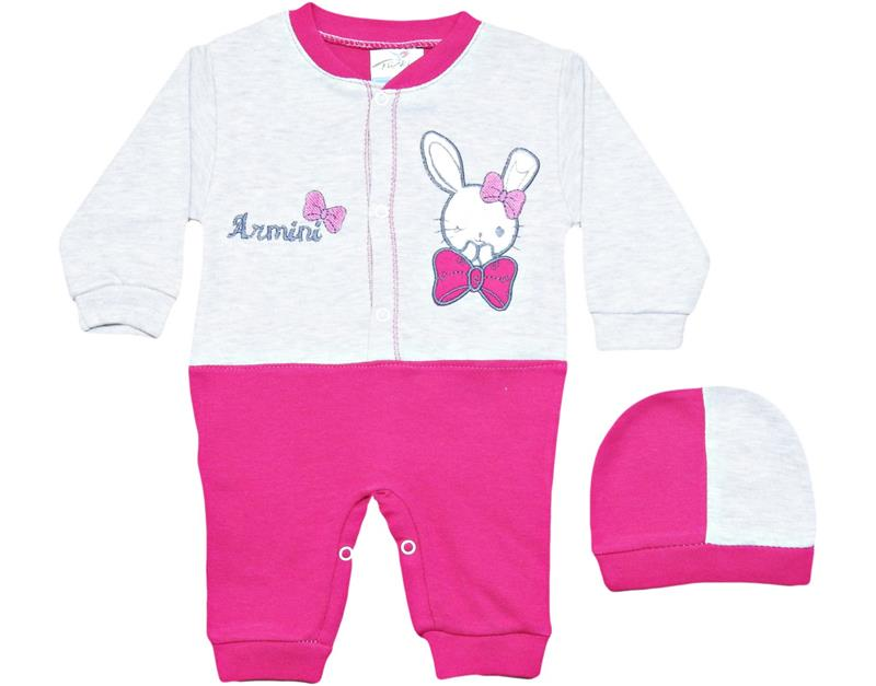 863 wholesale rabbit cotton baby girl rompers 3-6-9 month